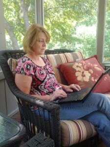 Susan Crandall Writing Outdoors