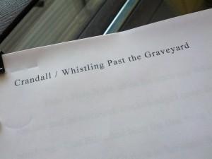 Whistling Past the Graveyard Manuscript