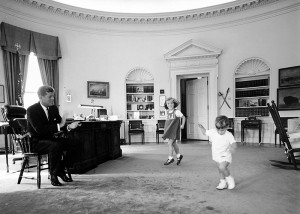 Kennedy Children in the Oval Office